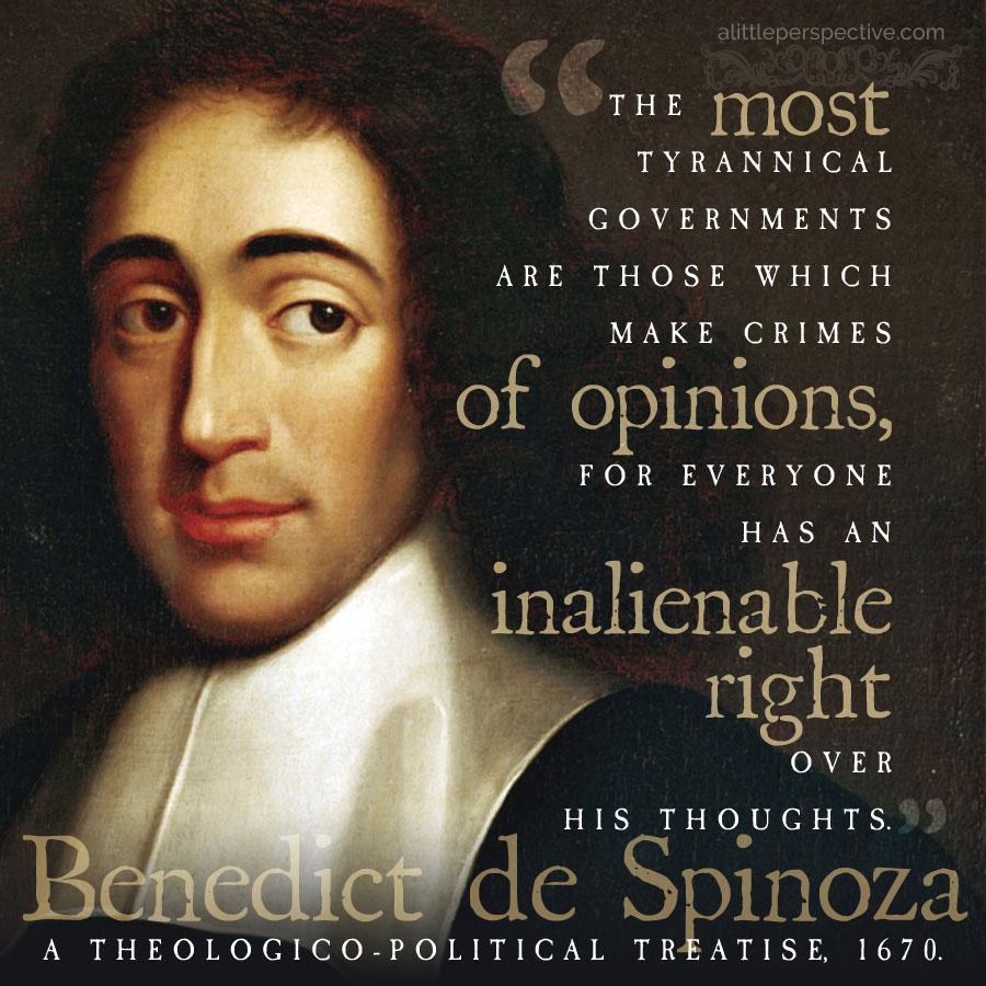 Benedict de Spinoza | alittleperspective.com