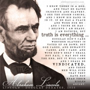 Abraham Lincoln 1858 | famous quotes at alittleperspective.com