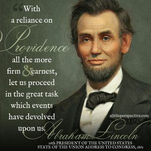Abraham Lincoln 1861 | famous quotes at alittleperspective.com
