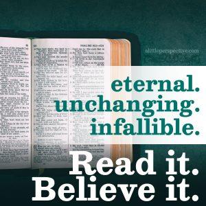 Read it. Believe it.   alittleperspective.com