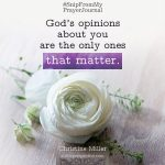God's opinions | Christine Miller @ alittleperspective.com