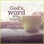 God's word | Christine Miller @ alittleperspective.com