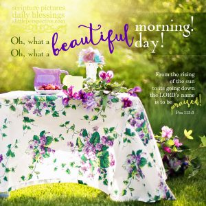 good morning | daily blessings from alittleperspective.com