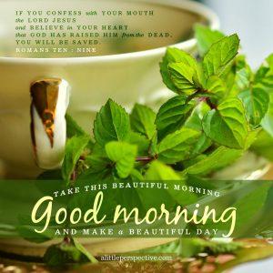 Good Morning   alittleperspective.com