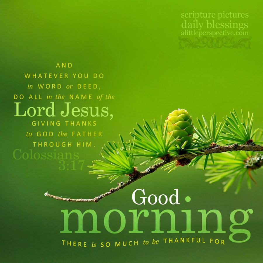good morning greens