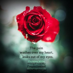 pain | Christine Miller @ alittleperspective.com