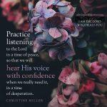 practice listening | Christine Miller @ alittleperspective.com