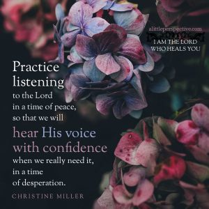 practice listening   Christine Miller @ alittleperspective.com