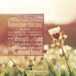 exodus 13:1-16 strong theme