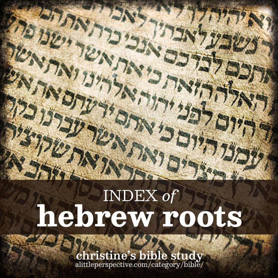 index of hebrew roots