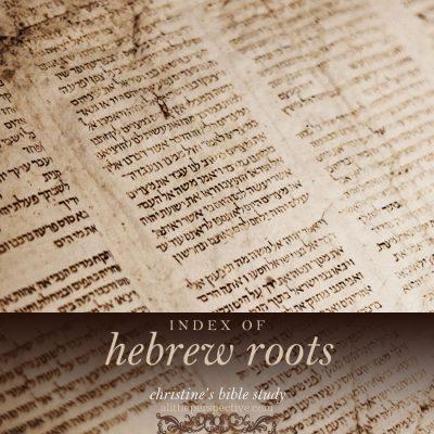 index of hebrew roots