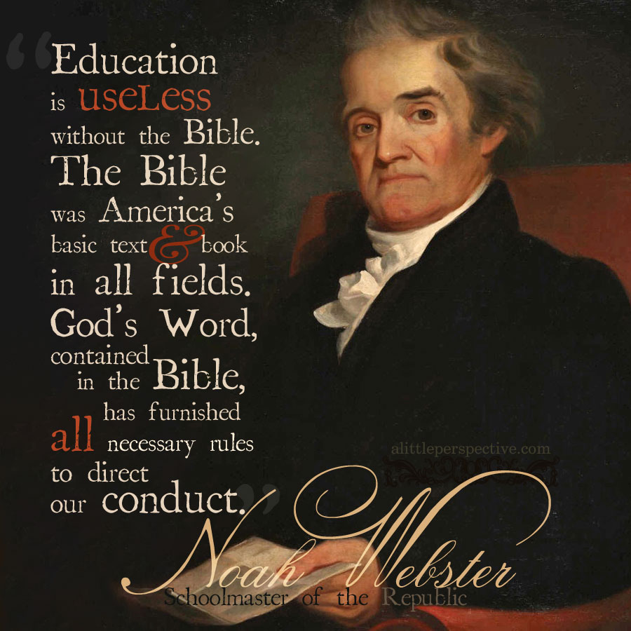 noah webster on education