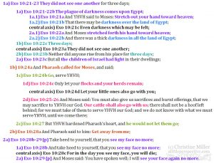 Exo 10:21-29 chiasm   christine's bible study at alittleperspective.com