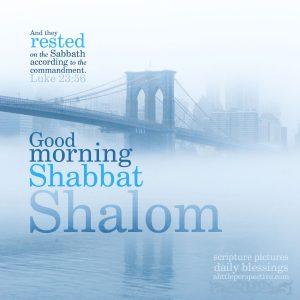 good morning shabbat shalom | daily blessings at alittleperspective.com