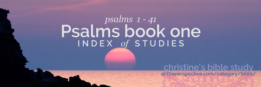 psalms book one index | christine's bible study at alittleperspective.com