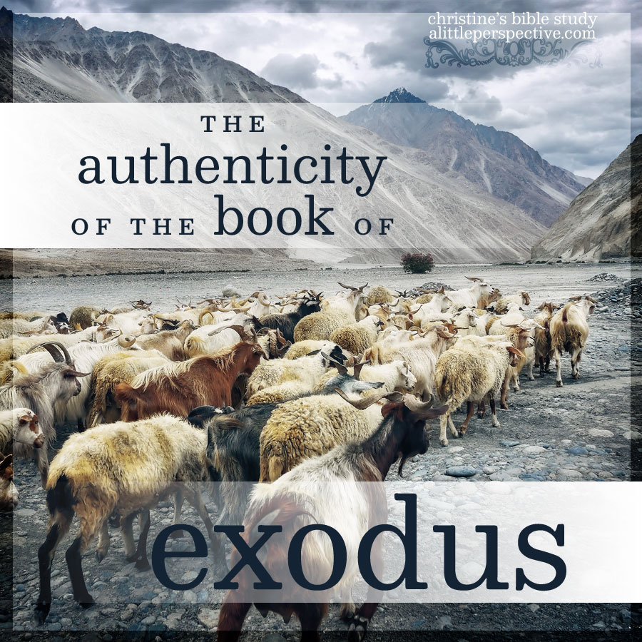 the authenticity of the book of exodus | christine's bible study at alittleperspective.com