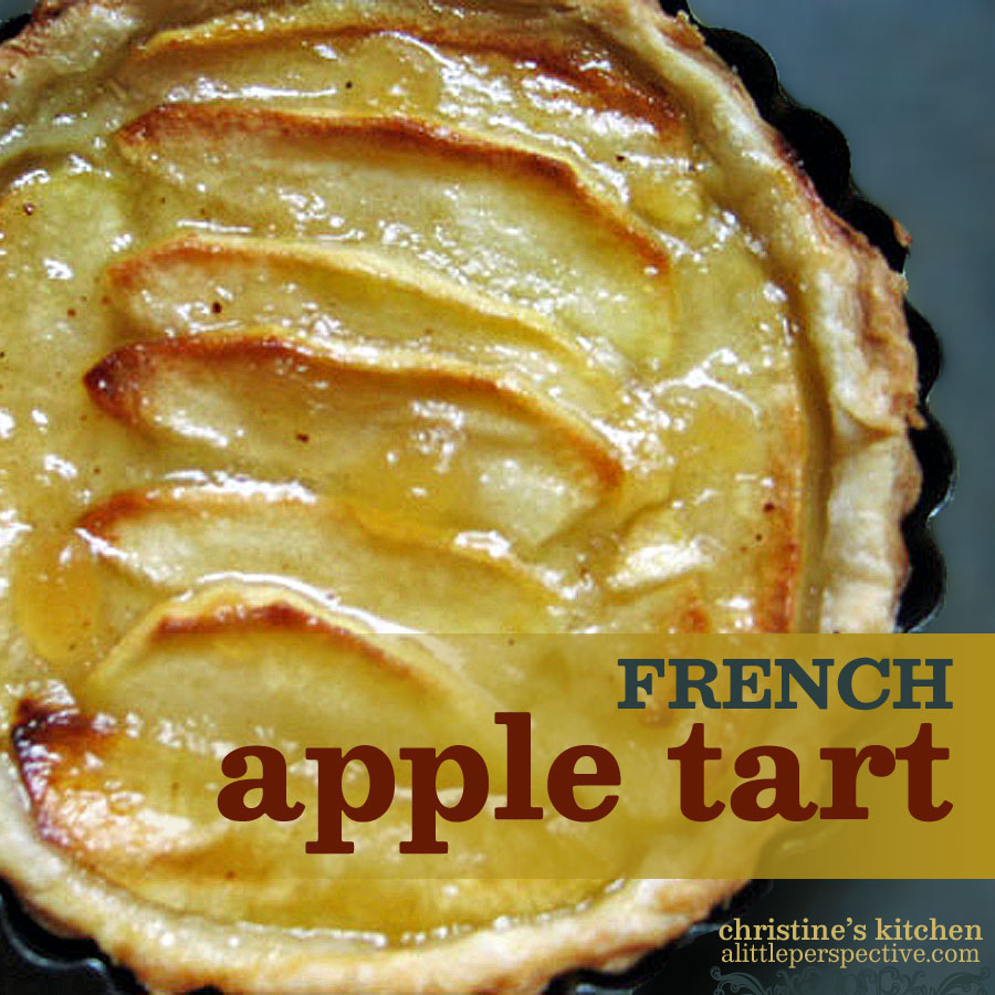 french apple tart | christine's kitchen at alittleperspective.com