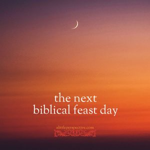 the next biblical feast day   alittleperspective.com