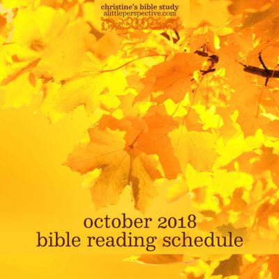 october 2018 bible reading schedule