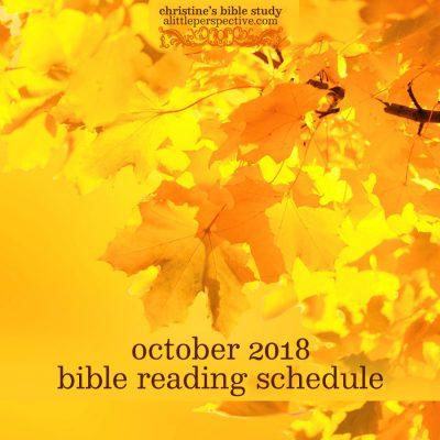 october 2018 bible reading schedule