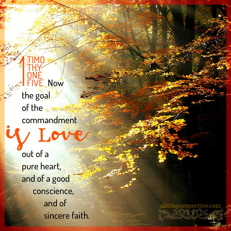 1 Tim 1:5 | scripture pictures at alittleperspective.com