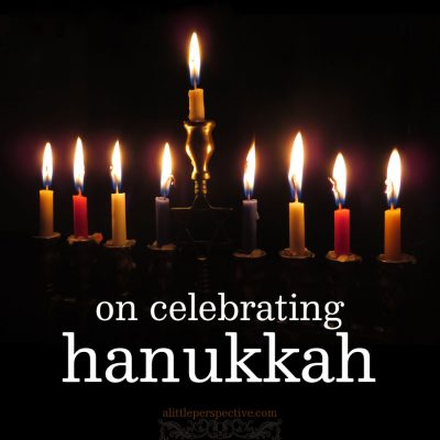 on celebrating hanukkah