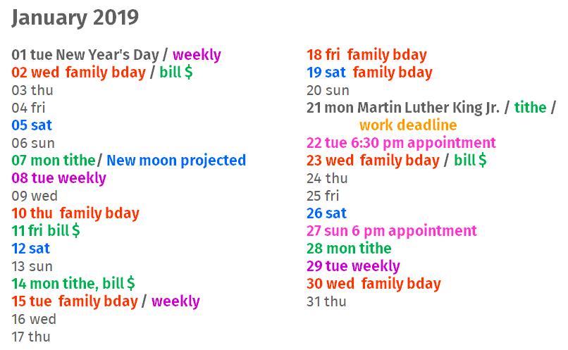 helpmeet calendar | transformed home at alittleperspective.com