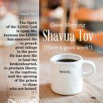 shavua tov good morning | alittleperspective.com