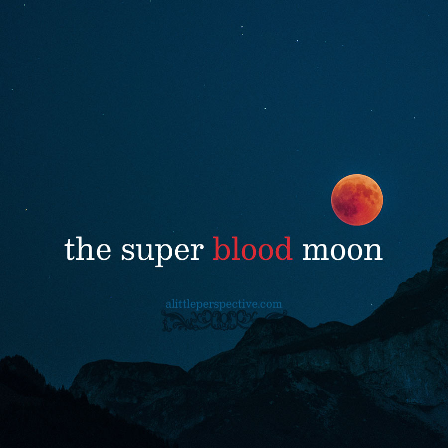 the super blood moon