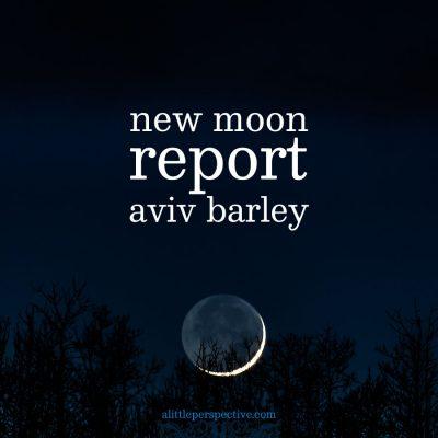 new moon, aviv barley report