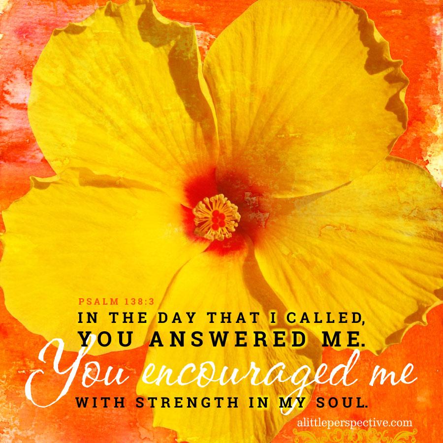 Psa 138:3   scripture pictures @ alittleperspective.com