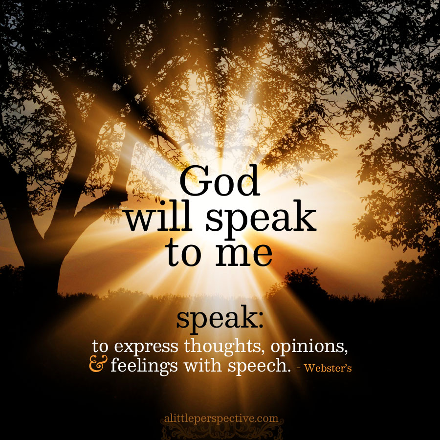 God will speak | book of truth @ alittleperspective.com