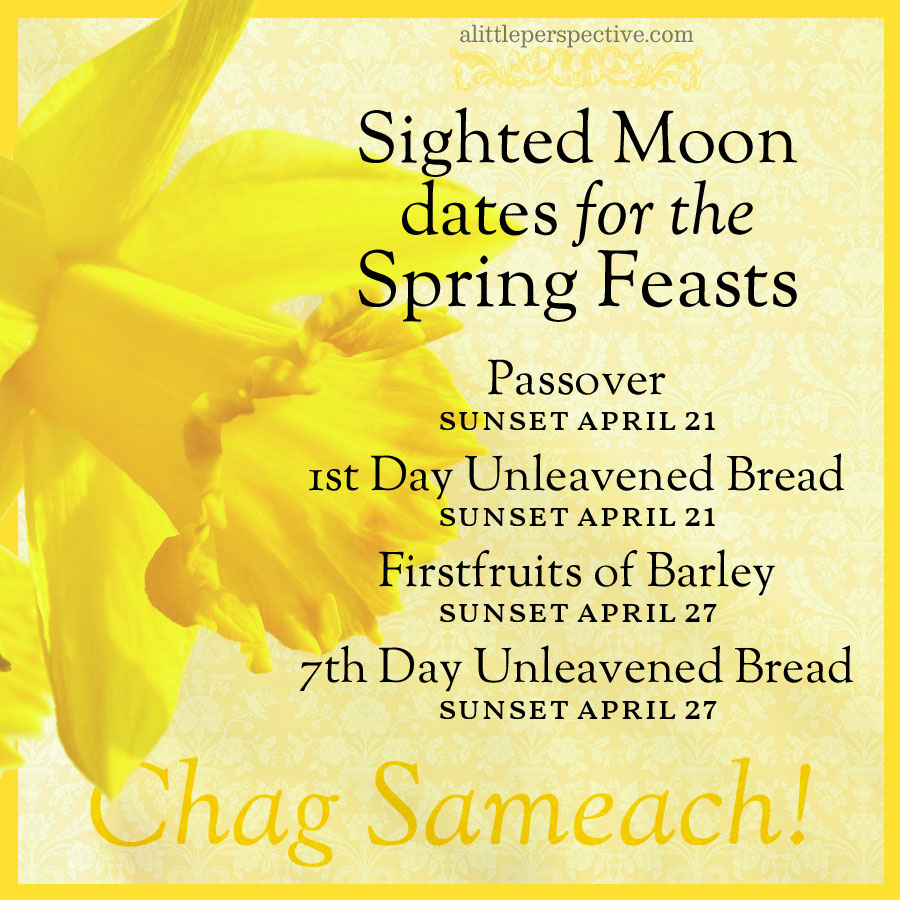 sighted moon dates for the spring feasts | alittleperspective.com