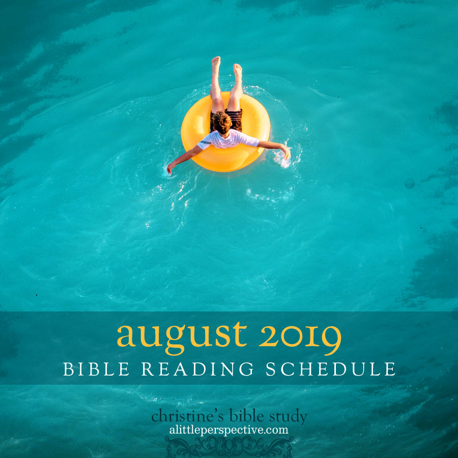 august 2019 bible reading schedule | christine's bible study at alittleperspective.com