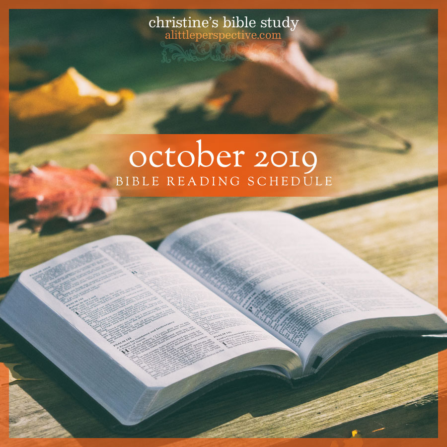 october 2019 bible reading schedule   christine's bible study at alittleperspective.com