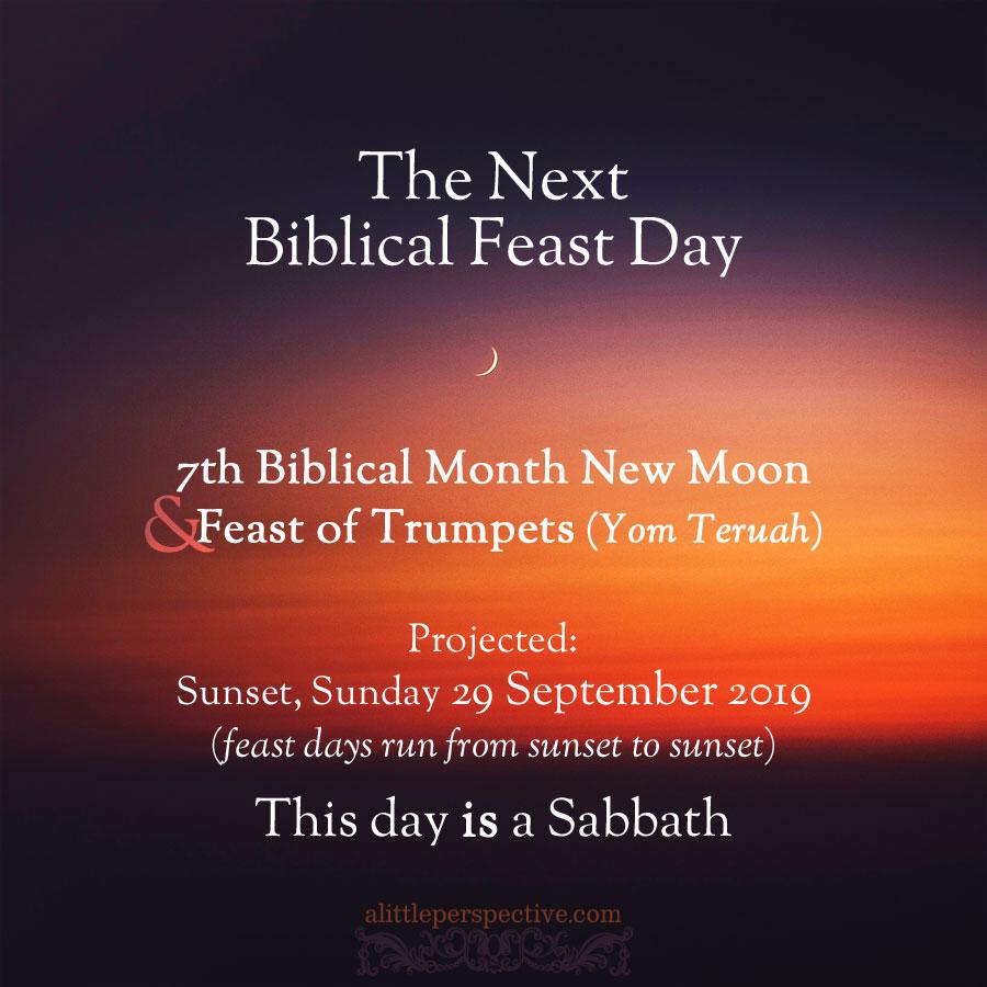 next biblical feast day | alittleperspective.com