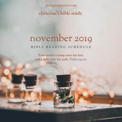 november 2019 bible reading schedule