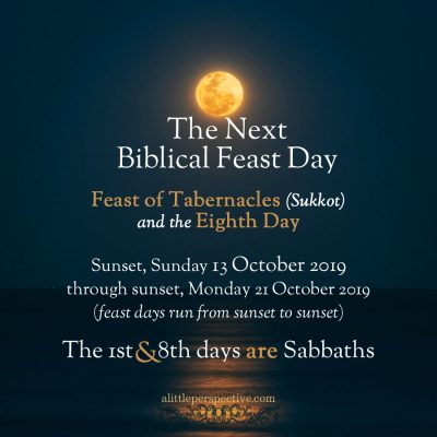 feast of tabernacles and the eighth day