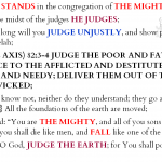 Psa 82:1-8 {p} chiasm | hebraicfaithbible.com