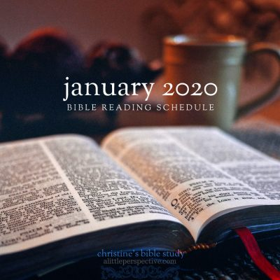 january 2020 bible reading schedule