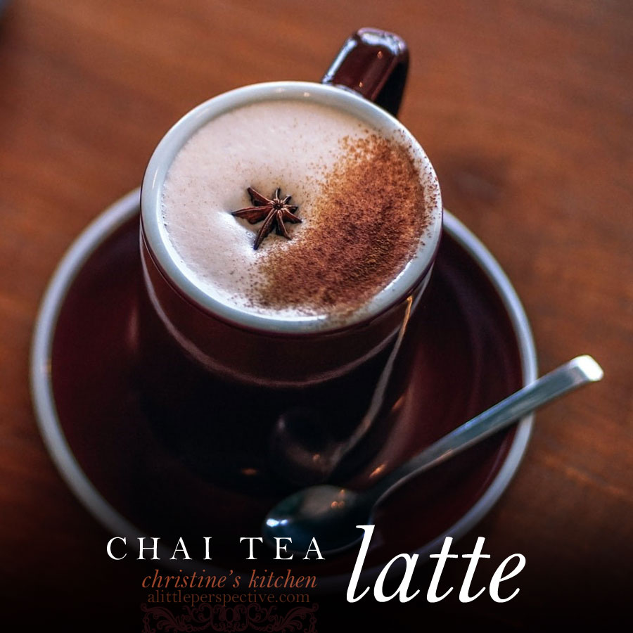 chai tea latte | christine's kitchen at alittleperspective.com