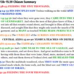Mat 14:13b-15:39 chiasm summary | hebraicfaithbible.com