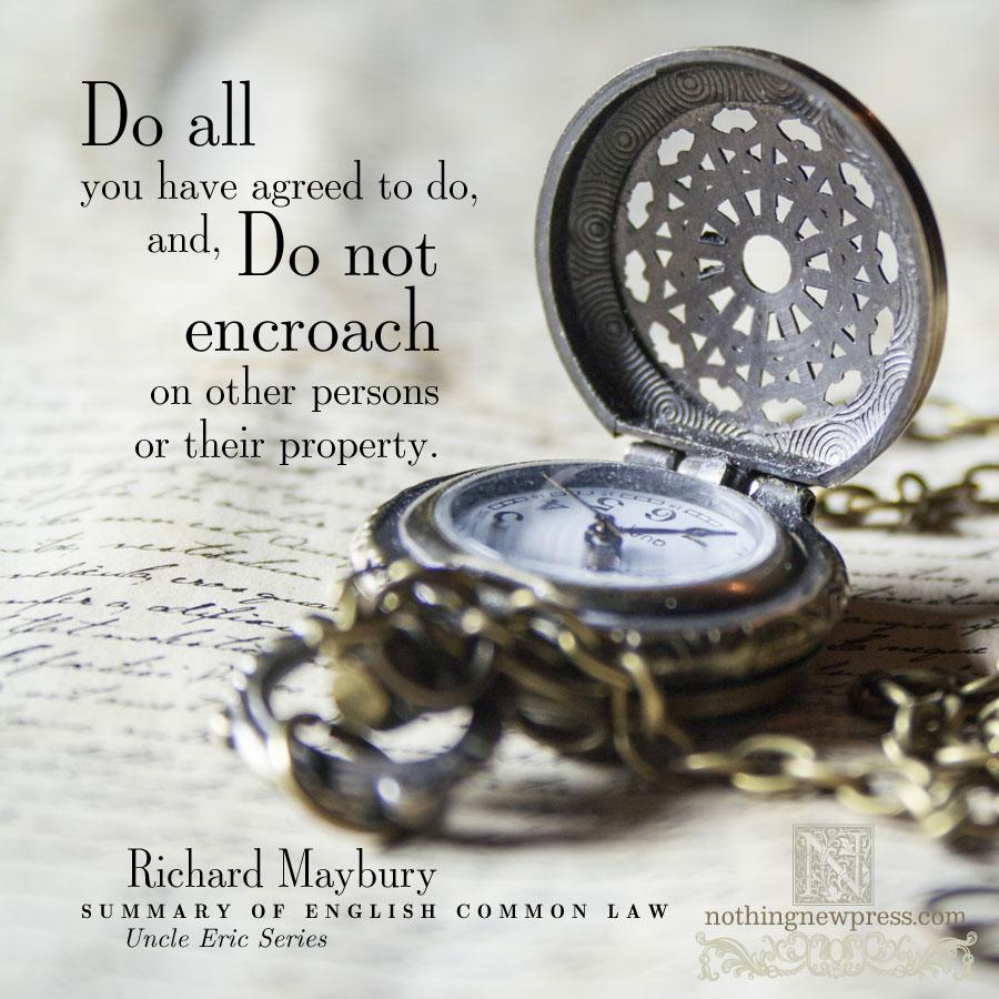 English Common Law | nothingnewpress.com