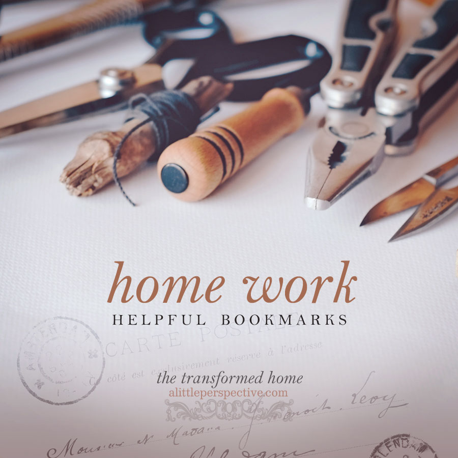 home work bookmarks | the transformed home at alittleperspective.com