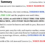 Luk 16:1-31 Chiasm summary | hebraicfaithbible.com