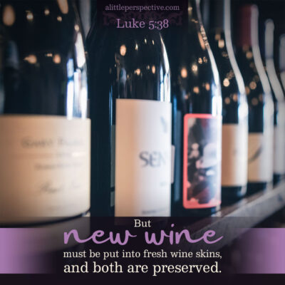 Luke 5:36-39, New wine in new wineskins