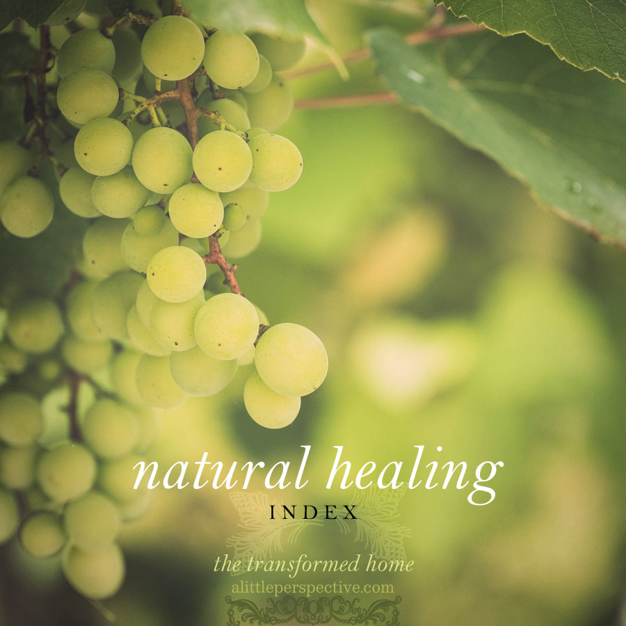 natural healing index | the transformed home at alittleperspective.com