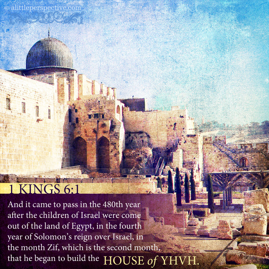 1 Kin 6:1 | scripture pictures at alittleperspective.com