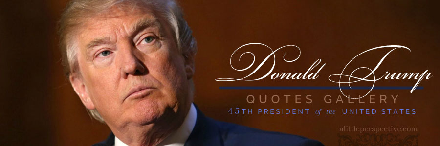 President Trump Quotes Gallery | alittleperspective.com
