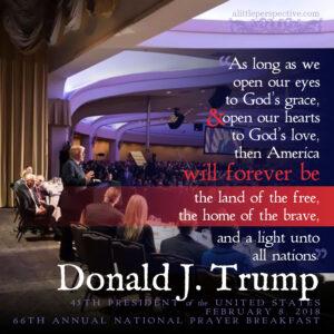 President Trump   Feb 8, 2018   alittleperspective.com
